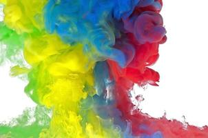 líquido colorido