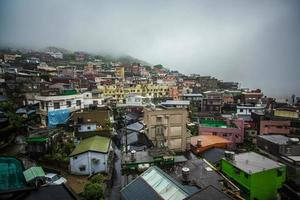 vila da montanha em jiufen taiwan foto