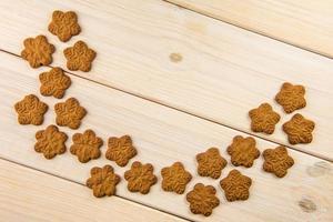 vista superior de biscoitos de gengibre