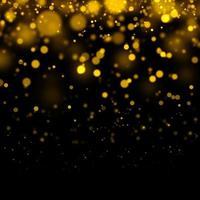 fundo dourado bokeh
