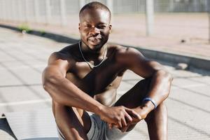 retrato de um atleta