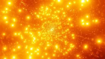 uma ilustração 3D da galáxia de partículas de fogo