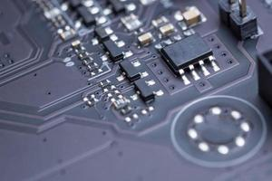 placa de circuito eletrônico, close-up