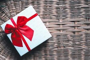fundo de caixa de presente de natal e ano novo foto