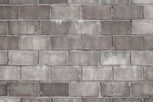 parede de bloco de concreto velha foto