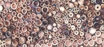 bambu de madeira picado foto