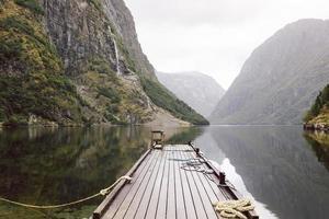 cais de sognefjord. Noruega foto