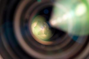 close-up de uma lente de câmera