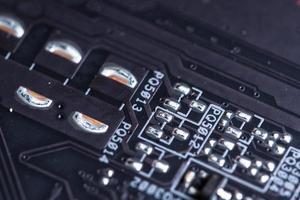 fundo da placa de circuito eletrônico