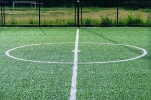 linhas de campo de futebol de grama artificial