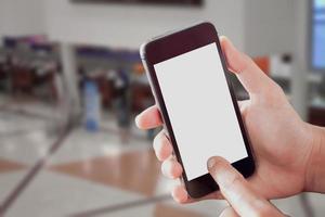 maquete de smartphone em uma academia foto