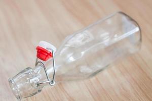 garrafa de água vintage foto