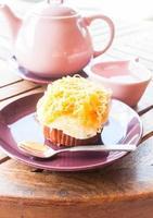cupcake um jogo de chá