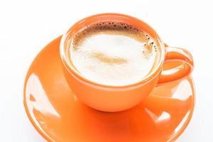 xícara de café expresso de laranja foto
