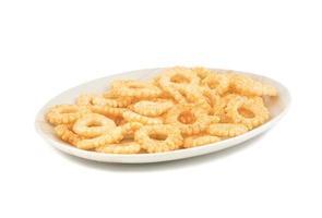 prato branco com anéis redondos