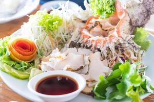 sashimi de concha fresco foto