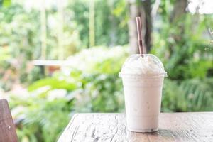 smoothie de milkshake de baunilha foto