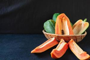 fruta madura da papaia foto