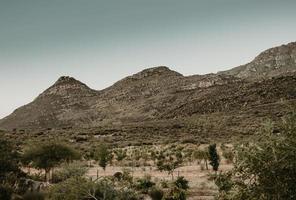 paisagem montanhosa na áfrica do sul