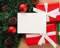 maquete de cartão de feliz natal foto