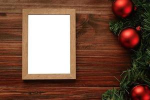 maquete de moldura de foto de feliz natal