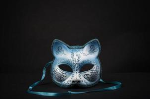 máscara de carnaval colorida em forma de gato para uma festa