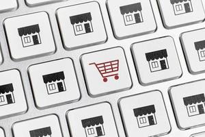 conceito de teclado de compras online