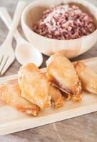 asas de frango com arroz berry multi grãos