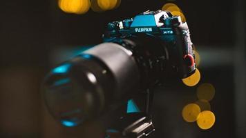 estados unidos, 2020 - câmera fujifilm dslr preta foto