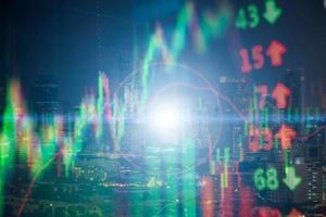 Fundo 3D do gráfico do mercado de ações foto