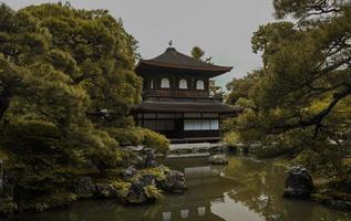 templo ginkaku-ji em kyoto, japão foto