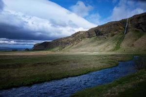 trilha de caminhada da Islândia foto