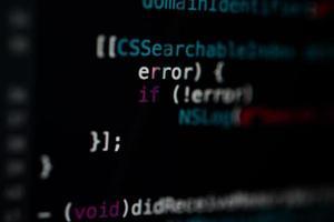 fundo de tecnologia de código de programação foto
