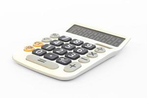 calculadora isolada em um fundo branco