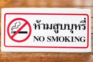 close-up de uma placa de proibido fumar