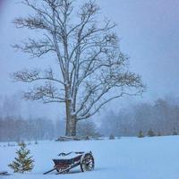 tempestade de neve de inverno foto