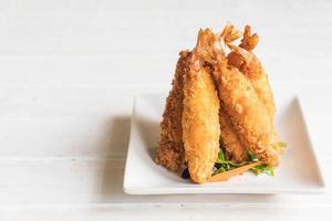 massa de camarão frito