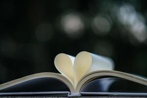 livro aberto com formato de coração