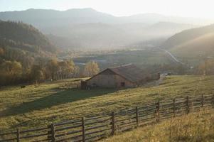 vista da paisagem do campo foto