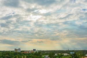 paisagem ao pôr do sol foto