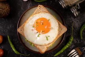 sanduíche de ovo frito foto