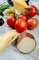 tomates e queijo