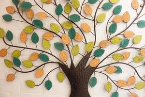 close-up de uma decoração de árvore de outono