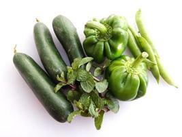 legumes verdes frescos foto