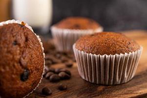 muffins de banana recém assados