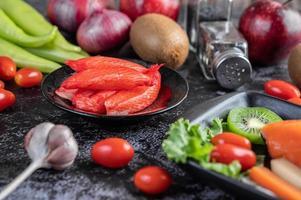 carne de caranguejo em um prato