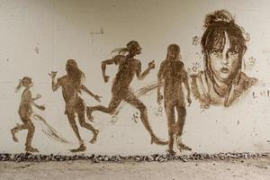 arte mural da comunidade foto