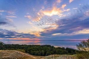 nuvens coloridas ao pôr do sol