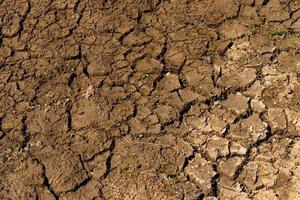 chão seco e rachado