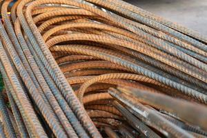 pilha de barras de aço